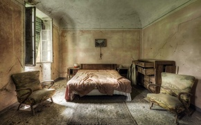 Картинка комната, кровать, окно