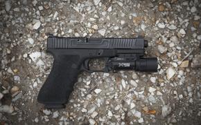 Картинка пистолет, фон, G17, FI Mk 1