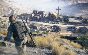 Картинка оружие, деревня, солдат, ghost recon wildlands