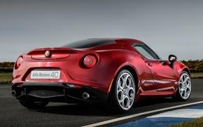 Картинка car, red, Alfa romeo