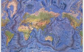Картинка земля, мир, карта, материки, атлас, океаны