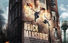 Обои David Belle, Paul Walker, Пол Уокер, Damien, Кирпичный особняк, Brick Mansions, Lino, Давид Белль