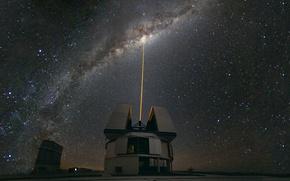 Картинка Млечный Путь, Чили, обсерватория, shines on Paranal Centre, The Milky Way, Laser Towards