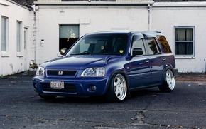 Картинка white, wheels, honda, japan, blue, jdm, tuning, front, face, stance, mugen, vtec, hr-v, hrv