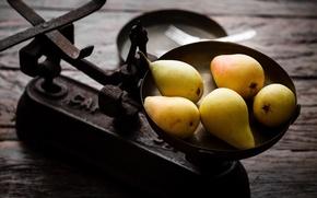 Обои фрукты, еда, груши