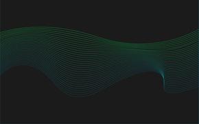 Картинка волны, линии, абстракция, фон, цвет, минимализм, кривые