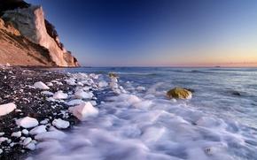 Картинка море, камни, скалы, берег, белые