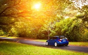 Картинка Subaru, Impreza, STI, blue, субару, импреза