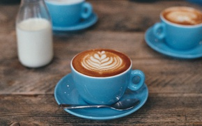Картинка food, cup, coffee, breakfast, milk, feed, saucer, arabica, robusta, beverage