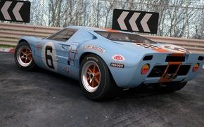 Картинка купе, Ford, арт, спорткар, GT40, dangeruss, спортивный автомобиль