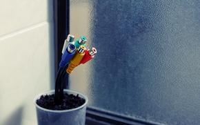 Картинка провода, горшок, Hi-Tech