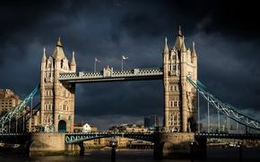 Картинка sunshine, Tower Bridge, London