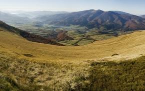 Картинка осень, панорама, Украина, Карпаты, Вододельный хребет, Восточные Бескиды