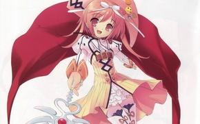 Картинка магия, шляпа, плащ, жезл, art, noizi ito, nanatsuiro drops, радужные капли.фея, tatatsuiro