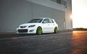 Картинка белая, Speed, Mazda 3, tuning, мазда