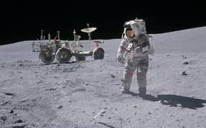 Картинка Луна, NASA, ровер, Аполлон