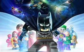 Картинка space, Batman, Joker, Superman, hero, Lex Luthor, Flash, videogame, Justice League, Beyond Gotham, villains, LEGO …