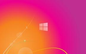 Картинка линии, яркий, абстракция, фон, розовый, цвет, спектр, минимализм, текстура, переход, pink, orange, windows 8