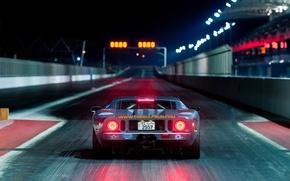 Картинка ночь, огни, Ford, форд, трек, джей ти