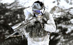 Картинка оружие, армия, солдат, United States Navy SEALs
