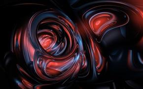 Обои потоки, абрстракция, glassy 3, прозрачно, формы