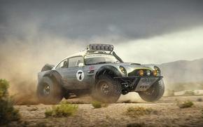 Обои Aston Martin, Future, DB5, Race, Offroad, by Khyzyl Saleem, Hugo Silva, Dakar, Tuning, Sand