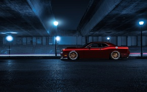 Картинка Muscle, Dodge, Challenger, Red, Car, Candy, Side, American, Wheels, Avant, Garde