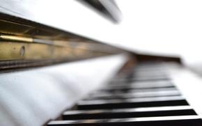 Картинка макро, музыка, фокус, пианино