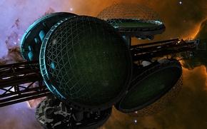 Картинка stars, spaceship, biospheres