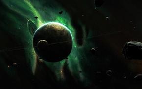 Обои космос, вселенная, планета