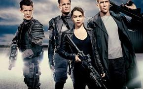 Обои оружие, фантастика, Джейсон, бойцы, Emilia Clarke, Эмилия Кларк, Мэтт Смит, Matt Smith, Jai Courtney, John ...