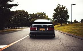 Картинка дорога, черный, тюнинг, бмв, BMW, black, tuning, E30