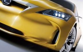 Обои Lexus, LF-Ch, желты, колесо