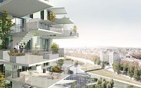 Картинка город, дом, стиль, архитектура, проэкт