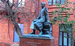 Картинка памятник, учёный, Омск, казах, Шокан Валиханов, просветитель