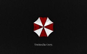 Обои logo, Umbrella Corp., book, Biohazard, Our Business is Life Itself, Umbrella Corporarion, Umbrella, cross, RE, ...