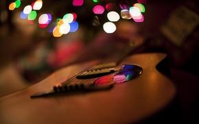 Картинка свет, блики, гитара