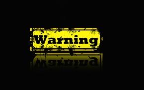 Обои фон, опасность, картинка, warning
