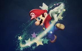 Обои игры, Марио, звезды