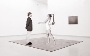Картинка мужчина, Mechanical toy, девушка кукла