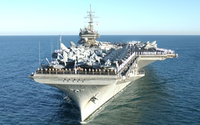 Картинка море, авианосец, USS, Constellation, типа «Китти-Хок», (CV-64)