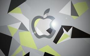 Картинка Apple, графика, фотошоп, Черное, iPad, Hi-Tech, Retina, Серое, iPad Retina, Зелёное