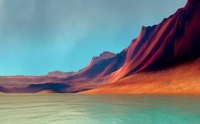 Картинка море, горы, LG G Flex 2