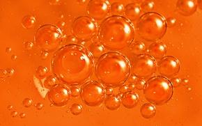 Картинка вода, макро, пузырьки, масло, жидкость, воздух