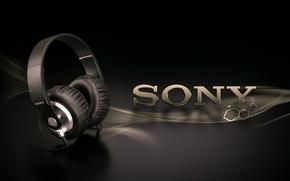 Обои Headphone, наушники, Sony