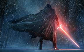 Обои Star Wars, Dark, Fantasy, Wood, Winter, Black, Warrior, Snow, Laser, The, Wallpaper, Smoke, Jedi, Force, ...