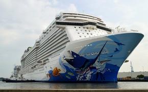 Картинка лайнер, комфорт, круизный корабль