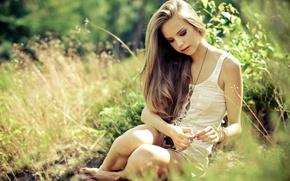 Картинка лето, девушка, красота