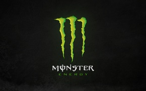 Картинка green, logo, monster, background, energy, monster energy