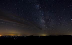 Картинка пространство, ночь, млечный путь, небо, космос, звезды